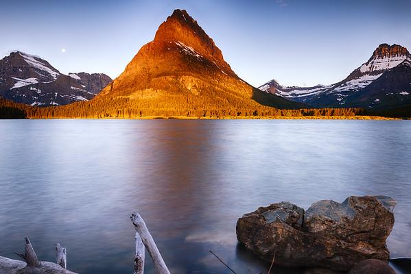Sunrise Over Swiftcurrent Lake
