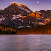 Moonset/Sunrise in Glacier National Park