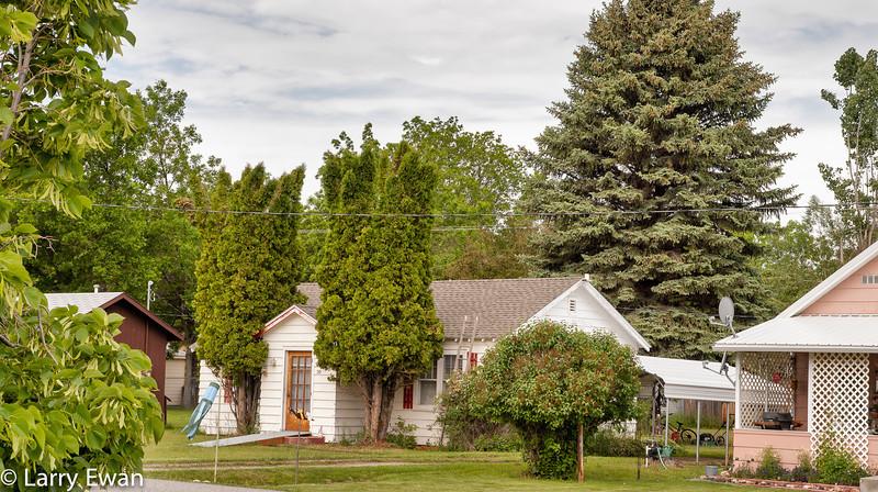 Peaceful neighborhood, Absarokee, MT.