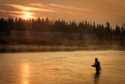 Fisherman at dawn