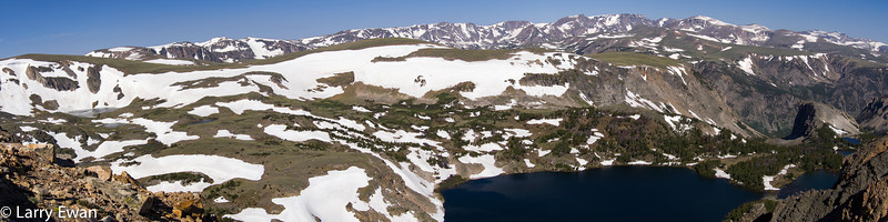 Panorama near Beartooth summit on US highway 212.  Elevation is above 10,000 feet.