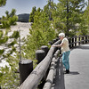Mom looking into the Grand Canyon of the Yellowstone.  June of 2013.
