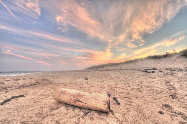 Sunset over Montauk beach
