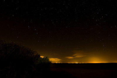 Big Dipper, night sky, and light pollution