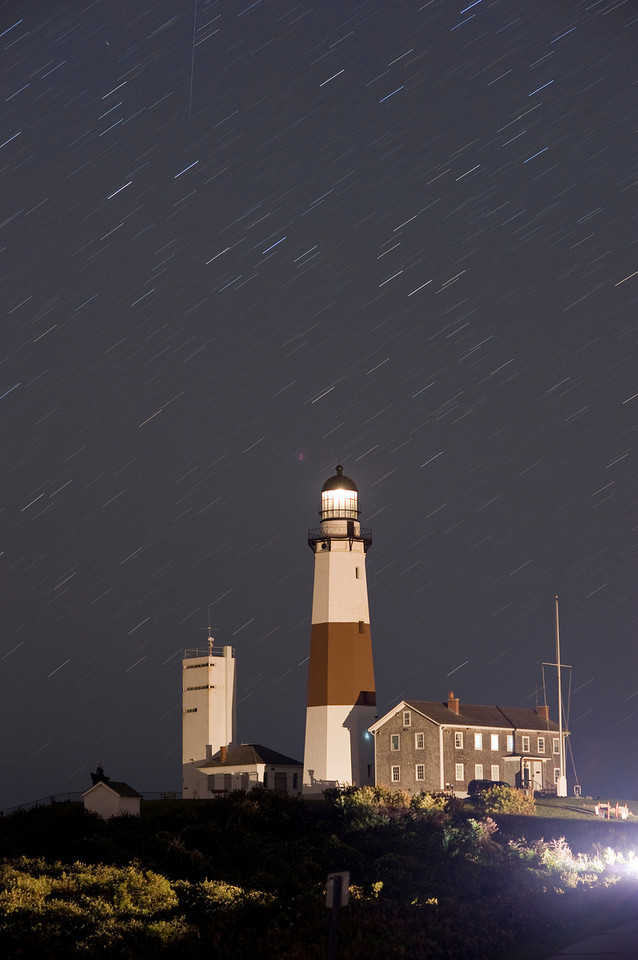 Montauk Lighthouse with Star Trails
