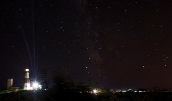Milky Way and Montauk Lighthouse