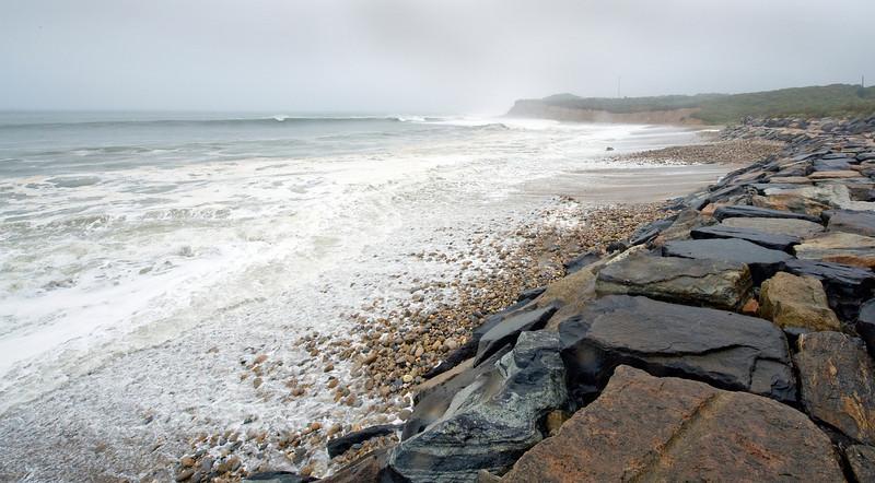 Montauk Point during Hurricane Earl
