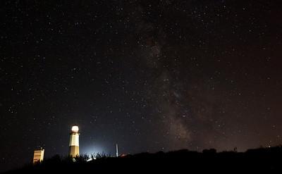 Montauk Lighthouse framed by the Milky Way, Sept 2010.