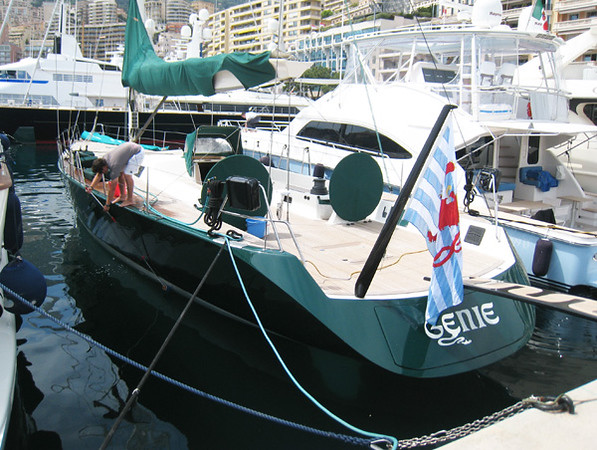 GENIE is an early, and small @ 85' Wally, designed by German Frers