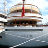 an unusual Feadship of 213'. Perhaps her owner plays golf.