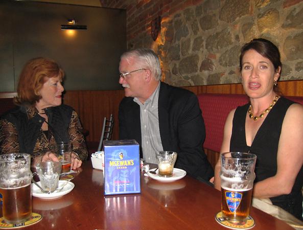 accompanied by Duke and a nice lady