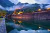 Kotor city walls at dawn