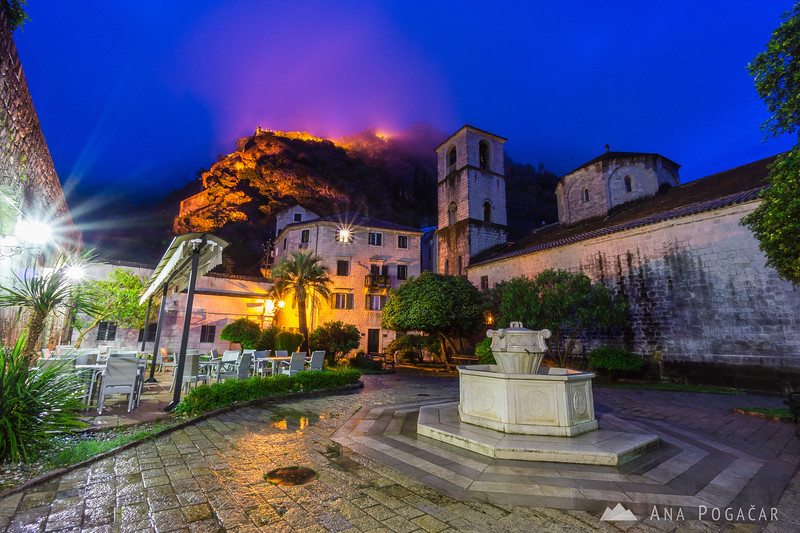 Kotor Old Town before dawn