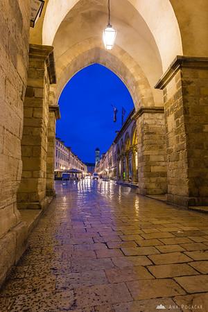 Streets of Dubrovnik at dawn