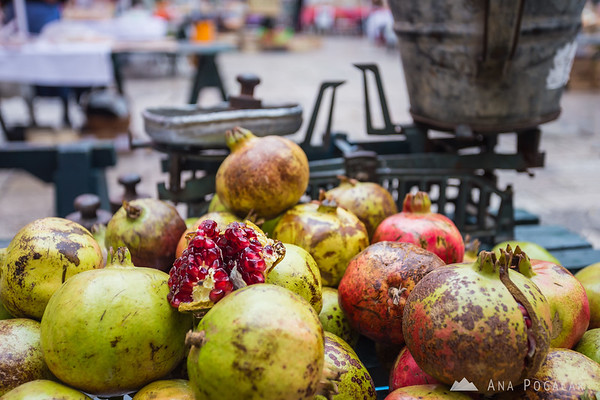 At the farmer's market in Dubrovnik