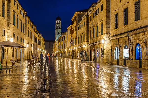 Streets of Dubrovnik at dawn