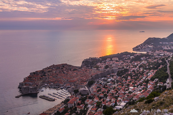Dubrovnik from the Srđ hill before sunset