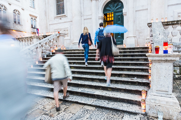 A rainy day in Dubrovnik