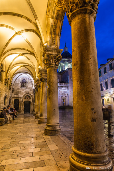 A rainy evening in Dubrovnik