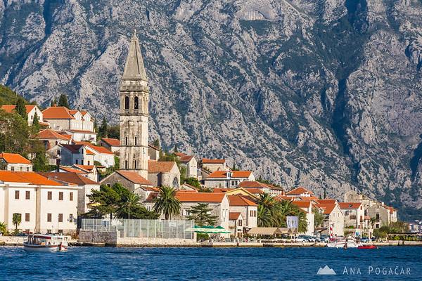Views of Perast from a boat, Bay of Kotor