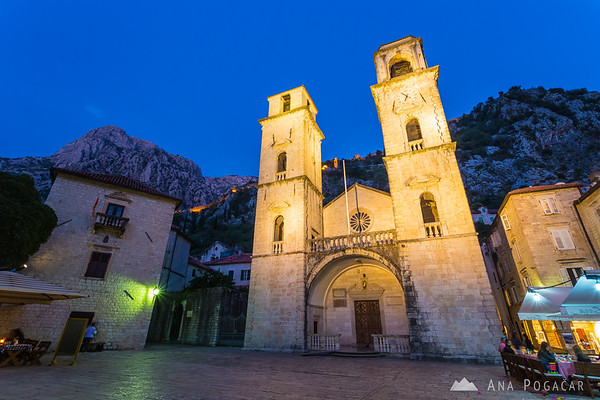 Blue hour at Kotor's cathedral