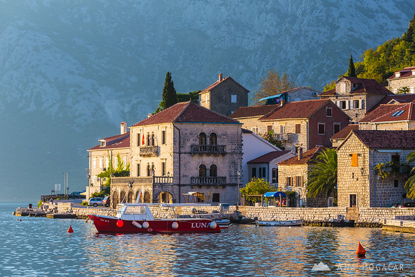 Perast in late afternoon light, Bay of Kotor