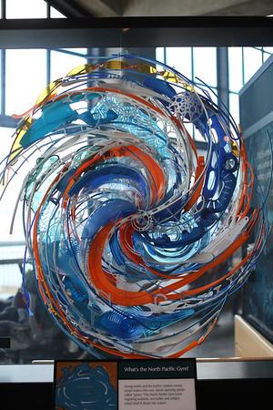 Monterey Aquarium Recycled Art