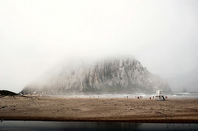 This is the Morro Bay Rock. This picture was taken at about 9 o'clock in the morning (the foggiest part of the day) and is one of my favorite pictures from that trip.