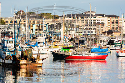 Sunday morning, commercial wharf, Monterey, CA