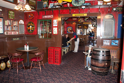 Interior of the London Bridge Bar and Grill.