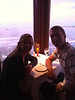 This was taken with Patty's iPhone by the waiter.  Not a decent shot, but it gives you a sense (barely) of the corner table we had with each of us looking out a window to the Pacific.  It was an amazing table.