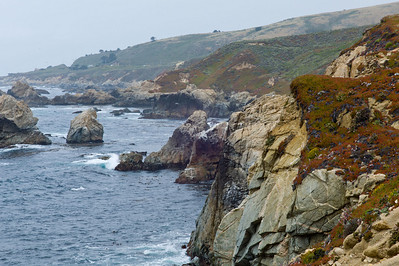 Big Sur Coast - Looking back up the coast towards Carmel by the Sea.