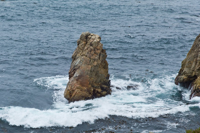 Big Sur Coast - Interesting rock formation.