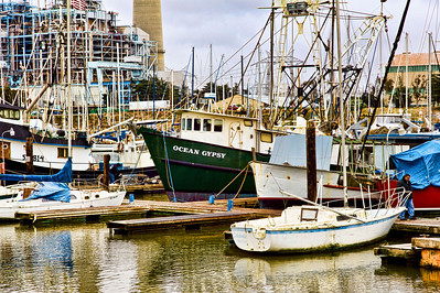 Moss Landing a working harbor.