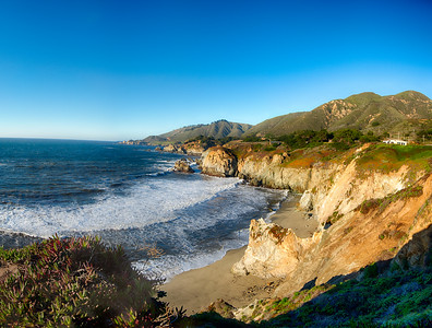 The Californian coast.