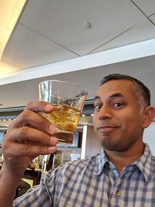 Pre flight drinks in the lounge