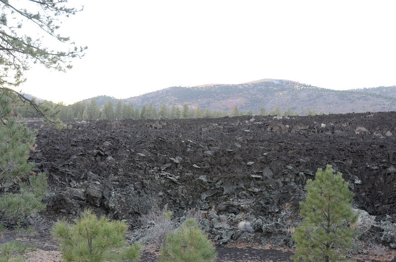 At sunset I arrived at Sunset Crater and exited to check it out.  While the crater was off the main road and not witnessed by me I came upon these amazing lava piles .... on and on.  I've never seen lava piled liked this.