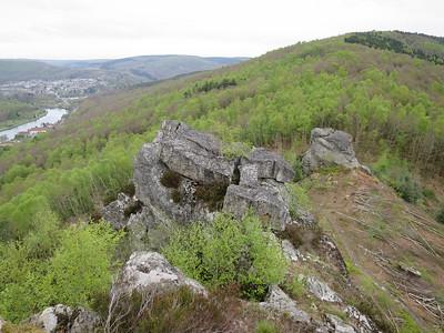 Hoogte wandelgebied 145-415 meter