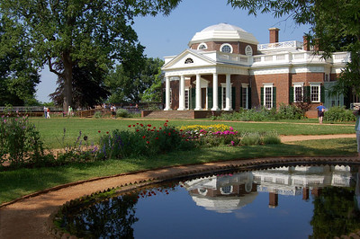 Monticello reflection in pond