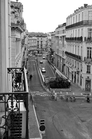 View from my window, Hotel du Midi. Montpellier, France.