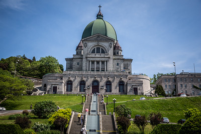 Saint Joseph's Oratory of Mount Royal, Montreal CA, has the 3rd largest dome in the world.  It was completed in 1967 and overlooks the greater Montreal.