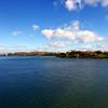 Vue sur le Saint-Laurent et la Biomède depuis le vieux port.