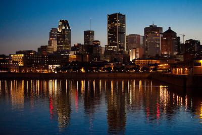 Vue panoramique de la ville de Montréal