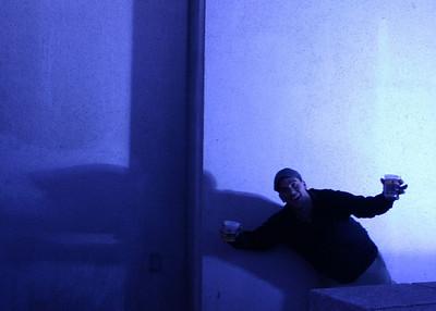 Geof in blue