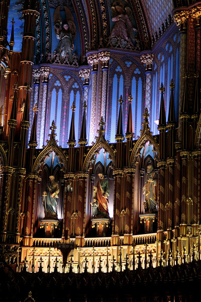Just a small part of the Basilica of Notre Dame in Montreal.  They run a light show at night which is quite spectacular.  The Basilica itself is breath-taking.