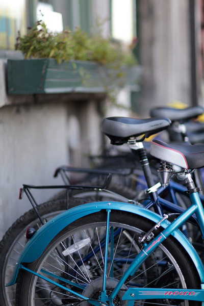 You can rent bicycles to ride around and you can drop them off at your destination.  No need to bring them back.  There are drop-off racks everywhere with some type of locking mechanism.  Great idea.