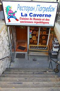 Restaurant russe de Montréal.