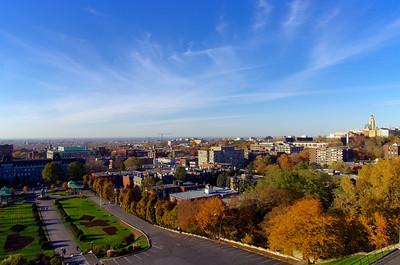 Vue de Montréal depuis l'esplanade de l'oratoire Saint-Joseph.