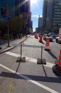 Comme toute grande ville, des travaux occupent l'espace urbain. Pas évident compte-tenu de la densité de la circulation automobile.
