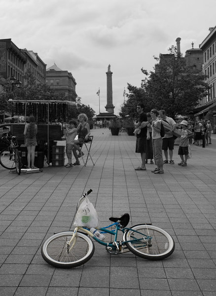 Lonely bicycle.